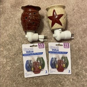 Scentsy nightlight warmer with replacement bulbs